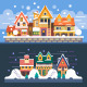 Christmas Time Winter Houses - GraphicRiver Item for Sale