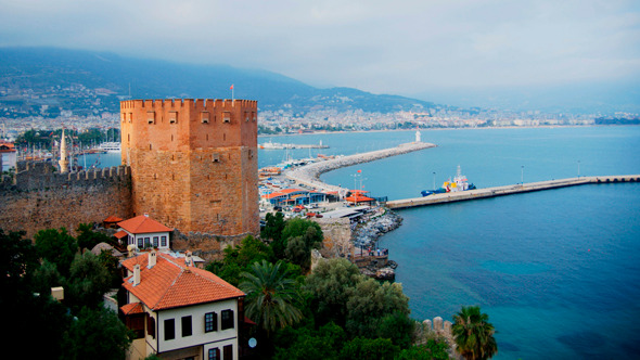 VideoHive Kizil Kule Red Tower The Symbol Of Alanya 9538909