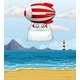 A Stripe Plane with a Banner - GraphicRiver Item for Sale