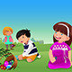 Kids Celebrating Easter - GraphicRiver Item for Sale
