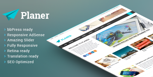 Planer Responsive WordPress Magazine Theme