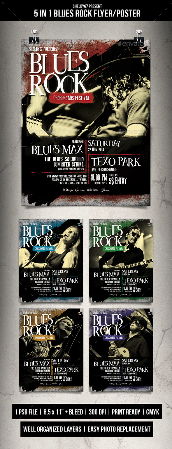 GraphicRiver Blues Rock Flyer Poster 9539107