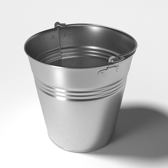 Stainless Steel Bucket - 3DOcean Item for Sale