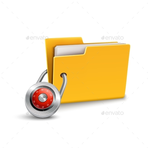GraphicRiver Folder with Lock 9539228