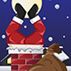 Santa Claus Stuck in a Chimney - GraphicRiver Item for Sale
