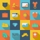 Finance Exchange Flat Icons - GraphicRiver Item for Sale