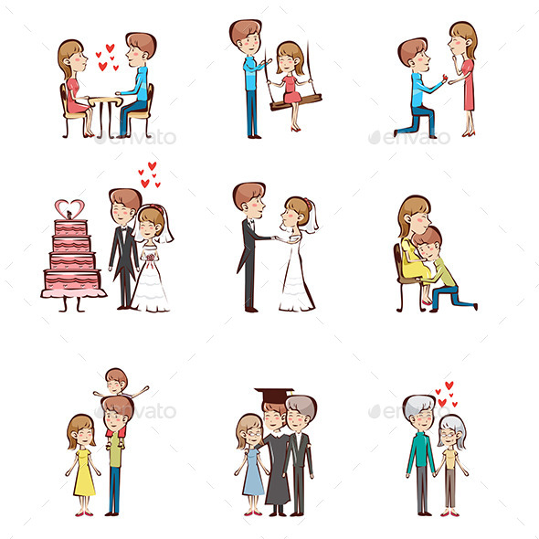 GraphicRiver Life Cycle of a Couple 9539464