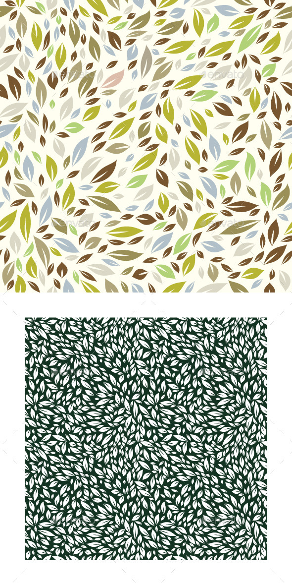 GraphicRiver Forest Leaf Pattern 9539523
