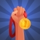 Hand Holding Medal - GraphicRiver Item for Sale