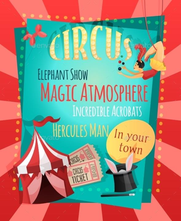GraphicRiver Circus Retro Poster 9539525
