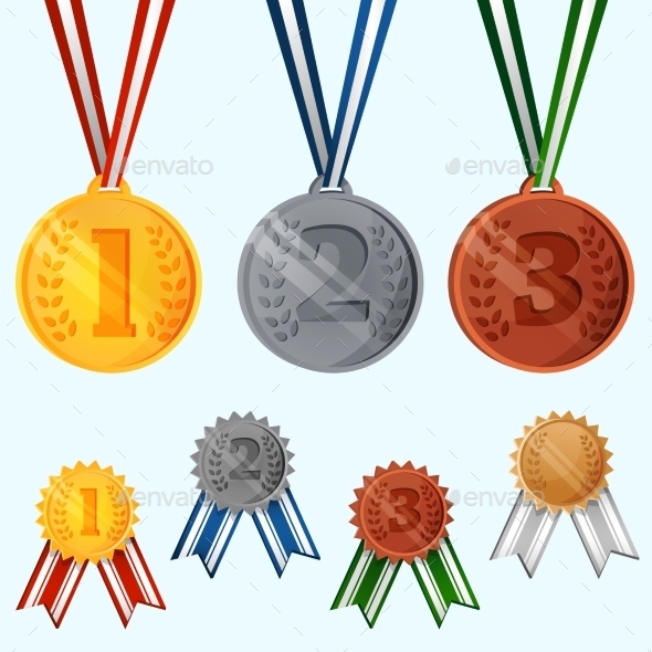 GraphicRiver Award Medals Set 9539526