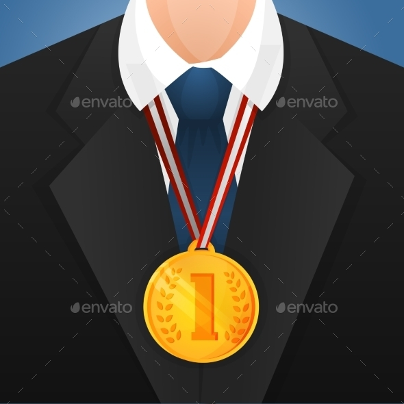 GraphicRiver Businessman with Medal 9539598