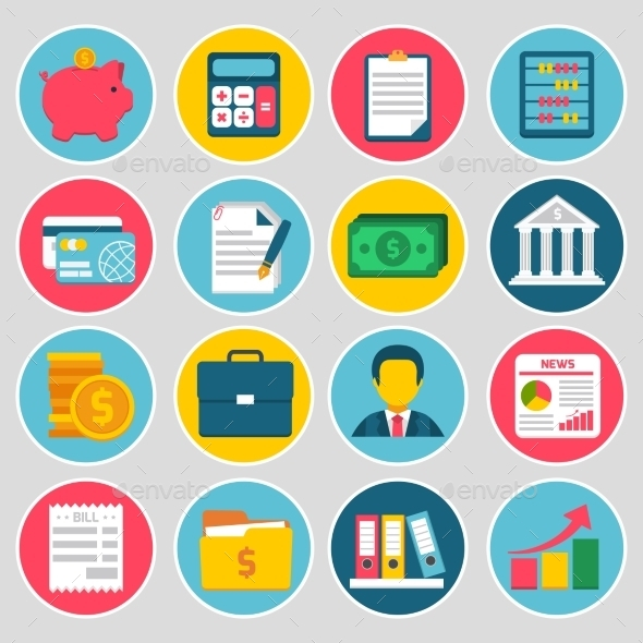 GraphicRiver Accounting Icons Set 9539664