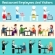 Restaurant Employees and Visitors - GraphicRiver Item for Sale