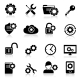 Settings Icons Black  - GraphicRiver Item for Sale