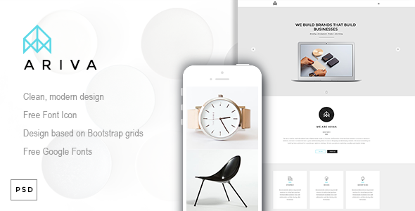 ThemeForest Ariva One Page PSD Template 9493807