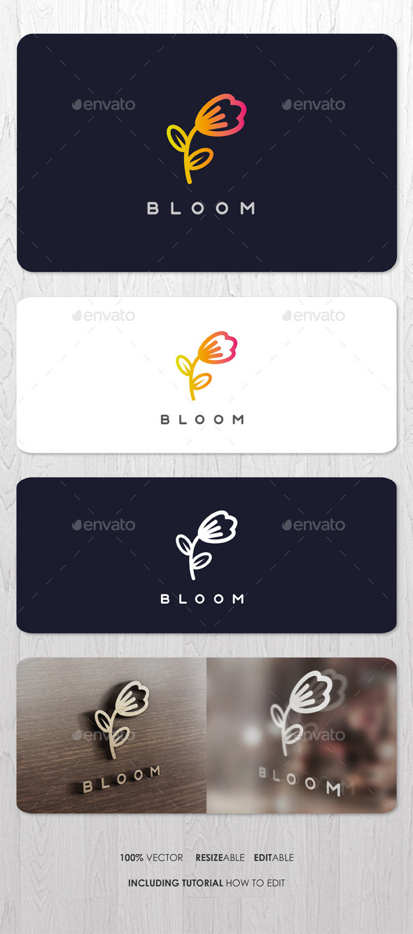 GraphicRiver Bloom Logo 9540332