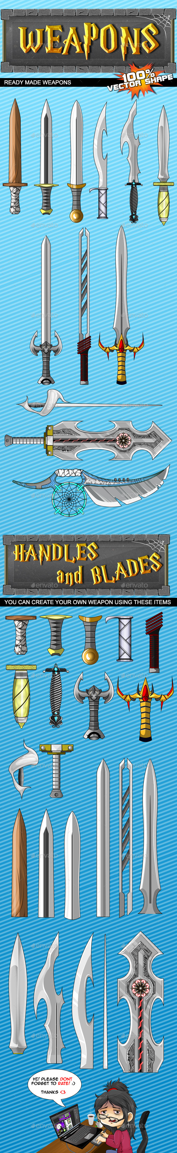 GraphicRiver Game Weapons #1 9540624
