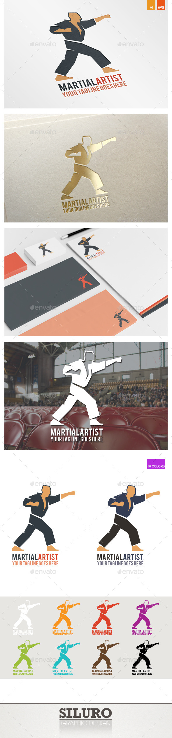 GraphicRiver Martial Artist Logo 9540644