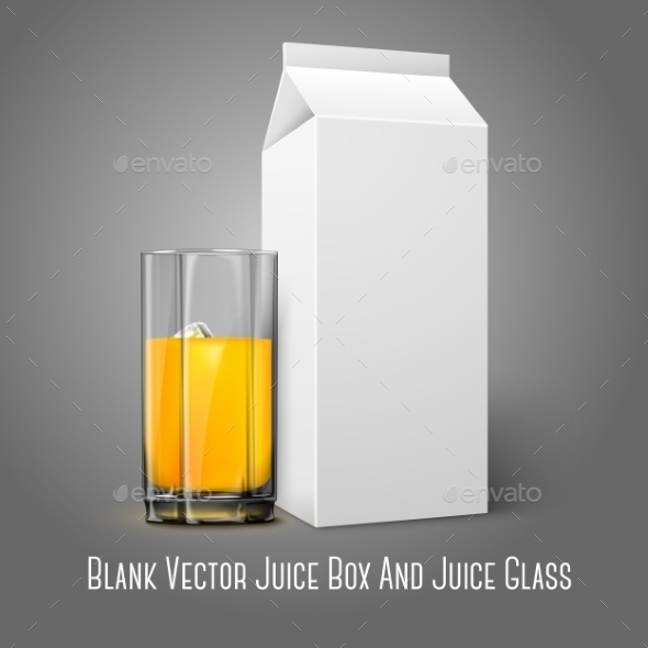 GraphicRiver Blank Package with Juice Glass 9540818