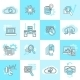 Database Analytics Icons Flat - GraphicRiver Item for Sale
