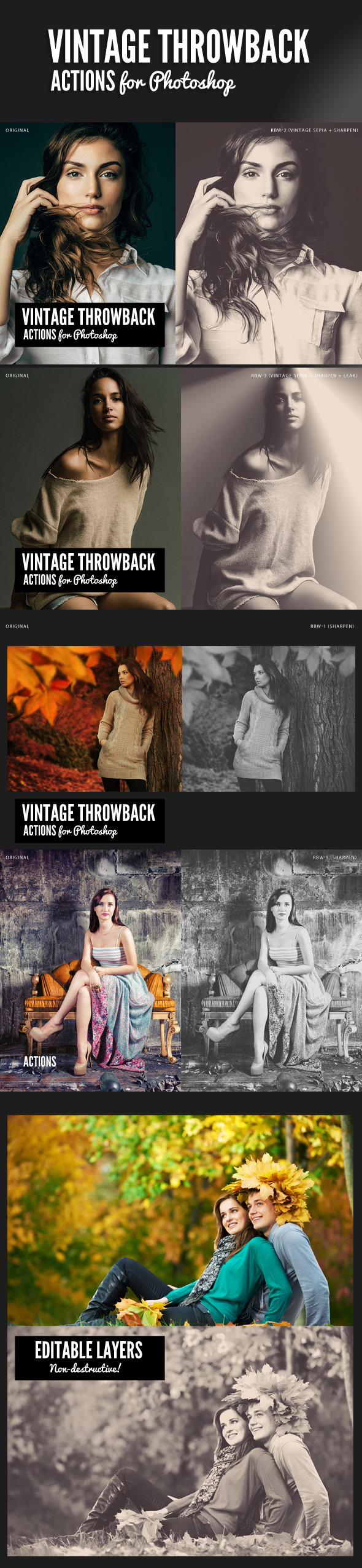 GraphicRiver Vintage Throwback Actions 9540873