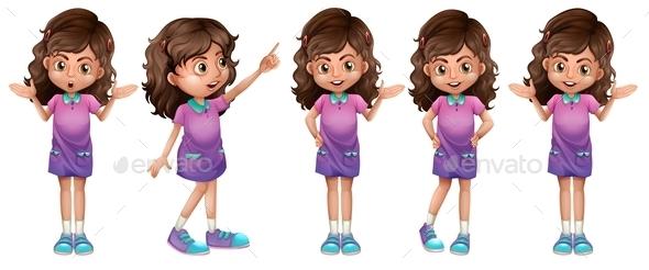 GraphicRiver A Cute Little Girl 9540910