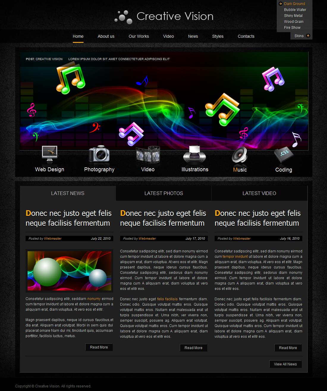 Creative Vision jQuery HTML5 Theme