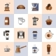 Coffee Icons Flat Line Set - GraphicRiver Item for Sale