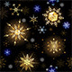 Seamless with Golden Snowflakes - GraphicRiver Item for Sale