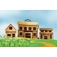 Three Different Styles of Wooden Houses - GraphicRiver Item for Sale
