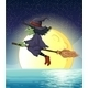 Witch and Fullmoon - GraphicRiver Item for Sale