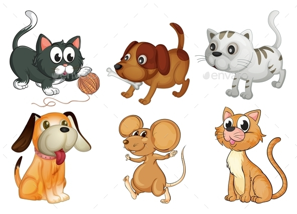 GraphicRiver Six Different Animals with Four Legs 9541447