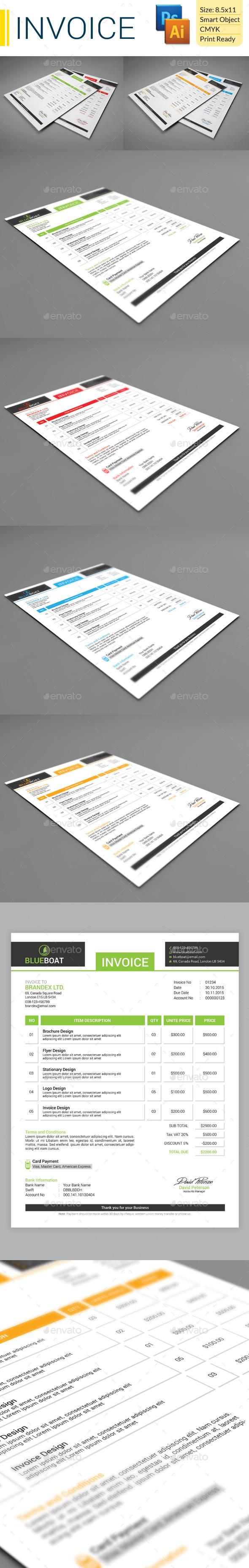 GraphicRiver Invoice 9541467