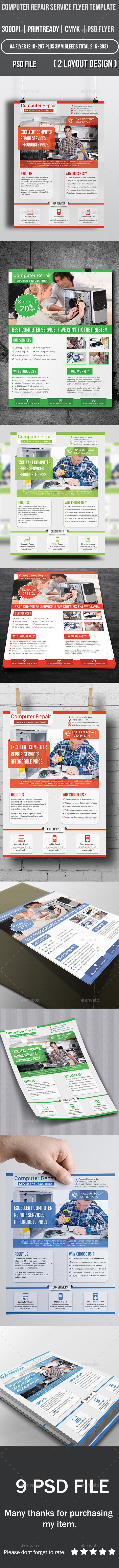 GraphicRiver Computer Repair Service Flyer Template 9541549