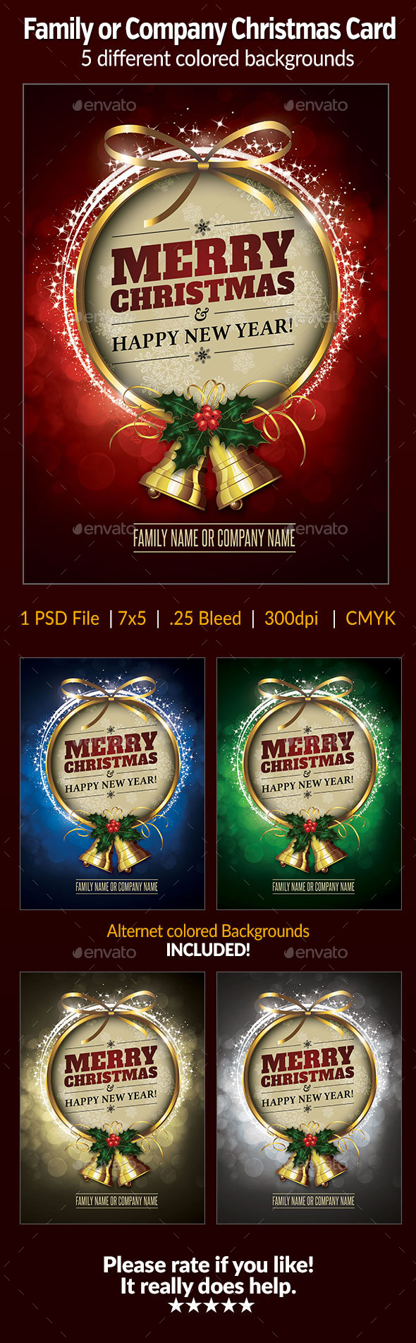 GraphicRiver Family Company Christmas Card 9541834