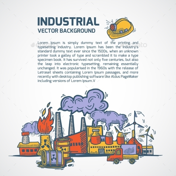 GraphicRiver Industrial Sketch Background 9541901