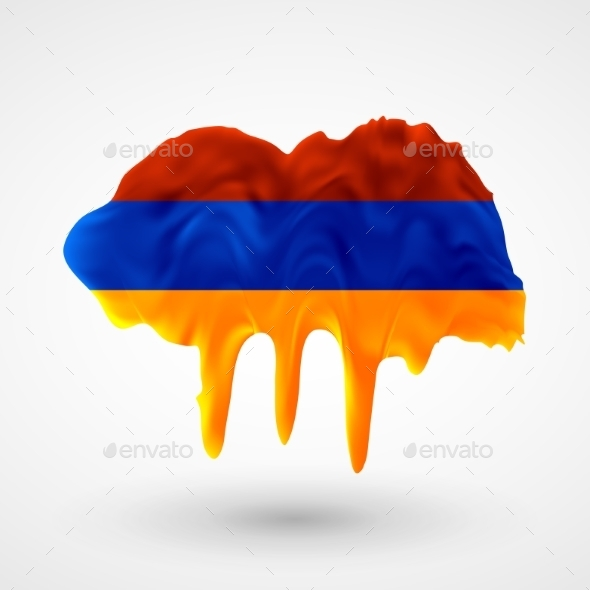 GraphicRiver Armenian Flag Painted Colors 9542041