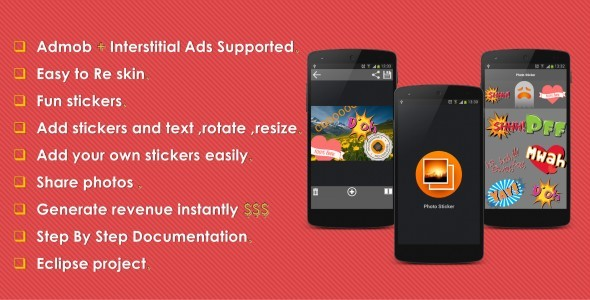 CodeCanyon Photo Sticker With Admob 9516842