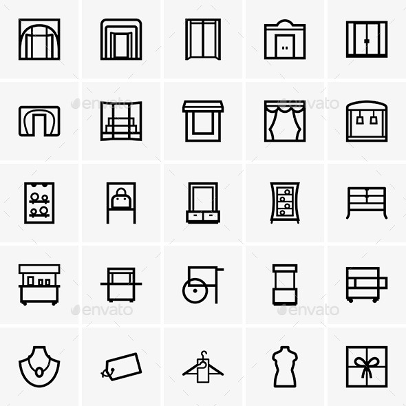 GraphicRiver Shop Icons 9542289