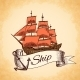 Tall Ship Emblem  - GraphicRiver Item for Sale