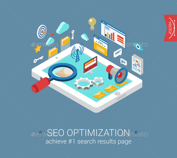 GraphicRiver Seo Optimization Concept 9542304