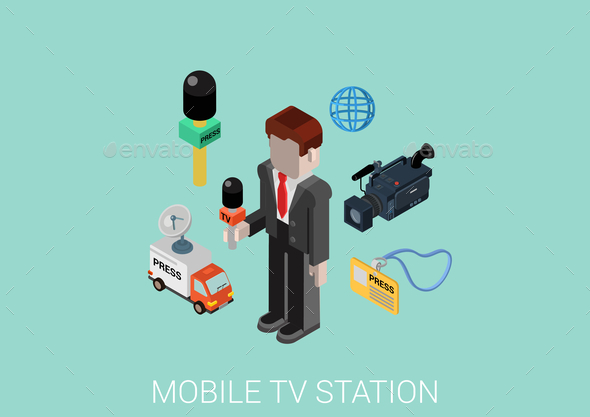 GraphicRiver Mobile TV Station Concept 9542307