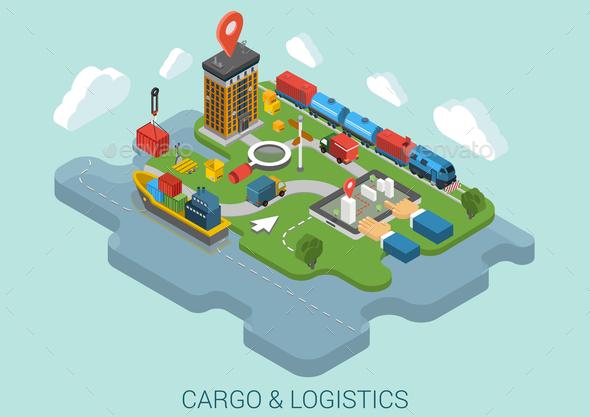 GraphicRiver Cargo Delivery Concept 9542308