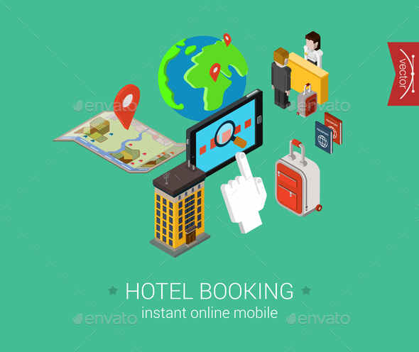 GraphicRiver Hotel Booking Concept 9542338