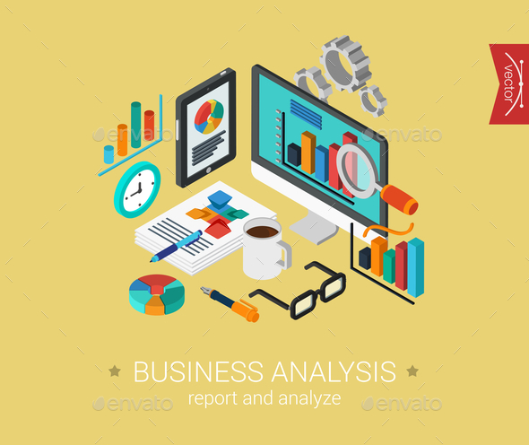 GraphicRiver Business Analysis Concept 9542344