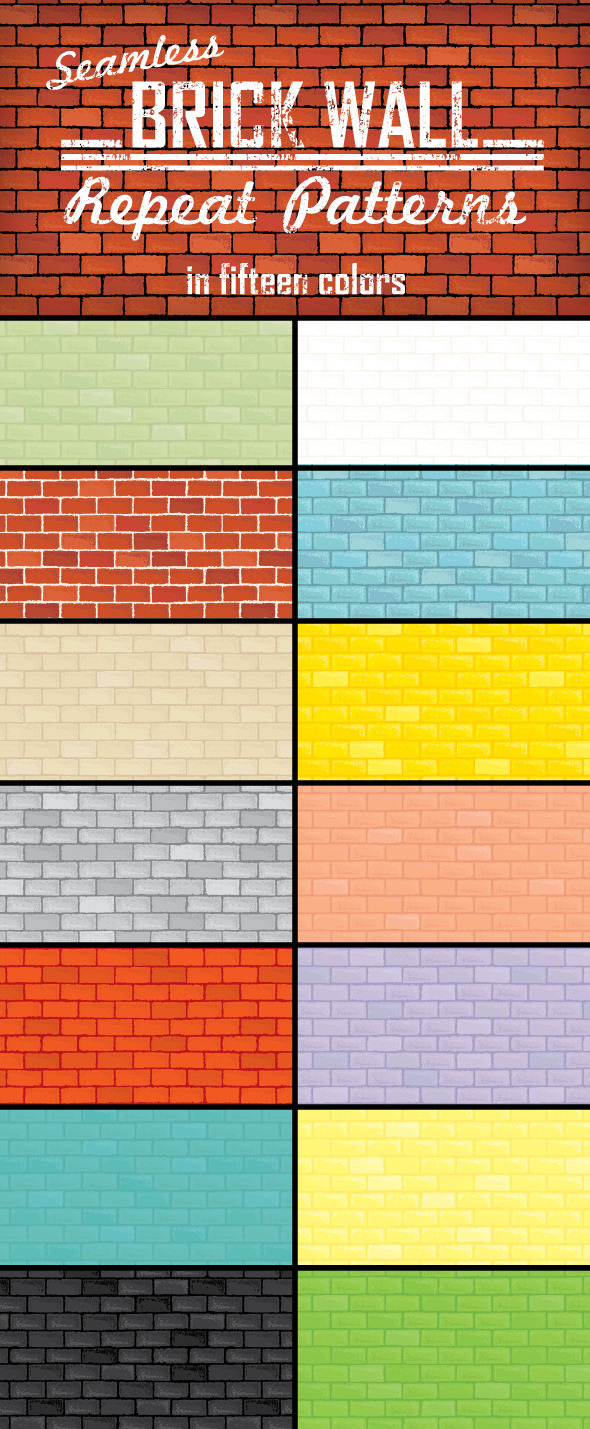 GraphicRiver Brick Wall Repeat Patterns 9542364