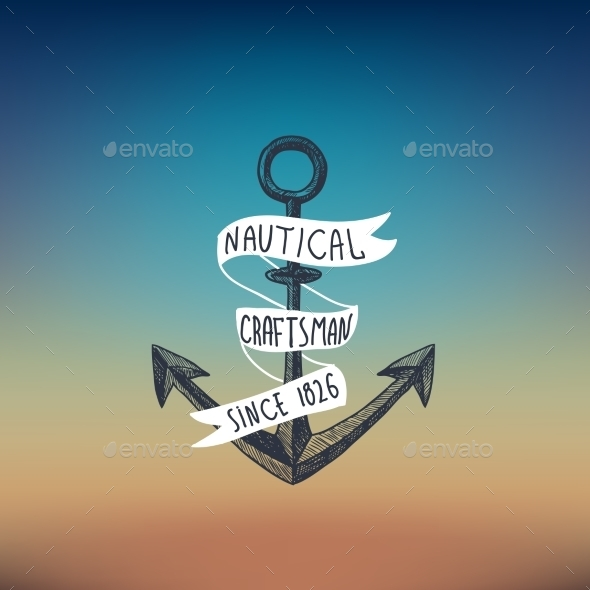 GraphicRiver Anchor Sketch Background 9542369