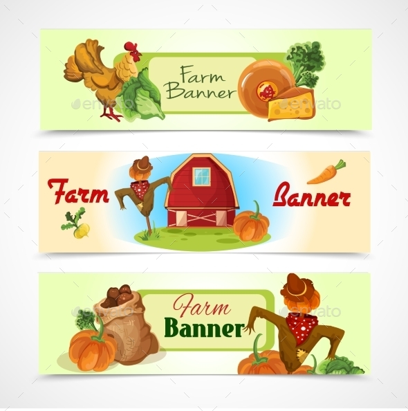 GraphicRiver Farm Banners Set 9542383