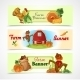 Farm Banners Set - GraphicRiver Item for Sale